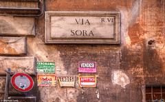 Via Sora, Rome, Italy (Michael Leek Photography) Tags: rome roma italy europe europa architecture italianarchitecture city street streetphotography michaelleek michaelleekphotography hdr highdynamicrange posters texture style travel travel2016 building stone