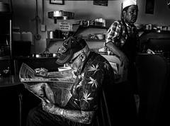 Bad News For Breakfast (Culture Shlock) Tags: street people news men coffee breakfast restaurant newspaper media cook diner coffeeshop eat dine cooks greasyspoon communications morningcoffee badnews wakeupcall