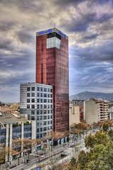 CFR4443 Allianz Building (Carlos F1) Tags: barcelona plaza city españa building skyline architecture square high spain arquitectura nikon view dynamic cloudy bcn edificio centro ciudad vista nublado arenas range alto hdr mirador comercial d300 allianz dinamico rango nuboso lebl