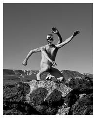 Blueprint (ingilee) Tags: sky blackandwhite bw man nature face canon dark naked nude landscape iceland body sunny reykjavik blueprint expressive surrealistic scull 24105mm 5dmarkll ingirn ingilee