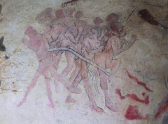 pink sinners corralled into hell (15th Century) (Simon_K) Tags: church churches broughton cambridgeshire eastanglia cambs hunts huntingdonshire