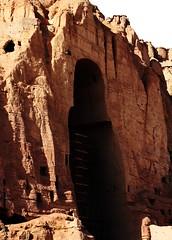 Lost Bamyan Buddhas (Joshua Zakary) Tags: road afghanistan mountains castle rural landscape ruins decay buddha aid development bamiyan desertsnow bamyan