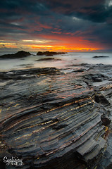 Majestic Layers (Syafiqjay) Tags: travel seascape nature rock sunrise landscape nikon asia malaysia layer majestic terengganu waterscape southchinesesea tanjungjara bigstopper photofibre syafiqjay