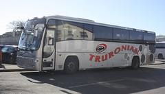 TT07TRU (lazy south's travels) Tags: uk england bus volvo coach britain replacement first rail railway devon exeter panther b12 plaxton firstgroup firstdevonandcornwall truronian tt07tru