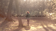 not all those who wander are lost (digitalctzn) Tags: trees tree green forest lens log woods stream glare guitar magical lensglare wunderlust