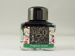 Diamine 150th Anniversary Tropical Green - Close Up