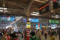 La gare Chhatrapati Shivaji (Mumbai, Inde)