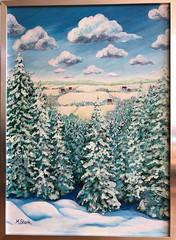 2015-04-12 Kilsbergsskogen (Margareta Stark (Mingeling)) Tags: winter snow woodland painting vinter acrylic sweden skog snö acrylicpainting örebro kilsbergen