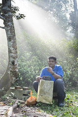 DSCF0047-Edit-3 (KH.AZ Photography) Tags: portrait man tree smoking human malaysia behind interest selangor rileks tagsforlikes x100s photoforlike picforlike