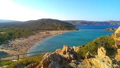 Vai beach from the rocky view point (levin.dimon) Tags: ocean sea beach island greek coast holidays europe rocky vai greece отдых creete отпуск seaocean пальмовыйрай