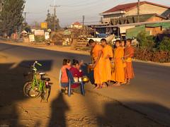 Mönche, Bolaven Plateau, Laos