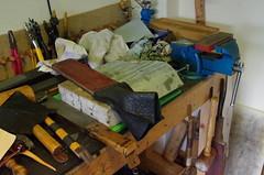 Saddlers Workbench (debbiestringer13) Tags: england workbench saddlery saddlerstools