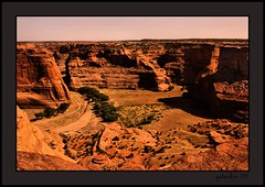 Chelley Valley 1 (the Gallopping Geezer 3.5 million + views....) Tags: arizona home canon village indian az canyon nativeamerican valley redrocks 2009 geezer americanindian corel dwelling rockformation chelley canyondechelley chinile