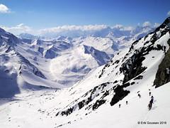 Day 2, afernoon: the steep final climb to reach the hut. (Erik.G.) Tags: zermatt chamonix skitouring skitour hauteroute valsorey plateauducouloir