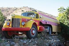 1946 International K12 Shell Gasoline Tanker Truck (Gerald (Wayne) Prout) Tags: arizona usa truck canon shell international jerome ghosttown gasoline tanker k12 1946 tankertruck prout goldkingmine goldking canoneos40d goldkingmineghosttown geraldwayneprout 1946internationalk12shellgasolinetankertruck