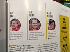 Clearleft sighting in Net magazine—two Bens and a Clare.