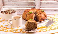 Slice of nutcracker ring cake (manyakotic) Tags: food cake breakfast pie bread dessert sweet walnut nuts pudding ring slice snack pastry brunch nutcracker treat baked bundt ringcake