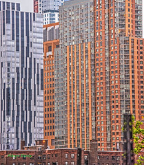 highrise homes (albyn.davis) Tags: buildings architecture nyc newyorkcity brooklyn orange colors lines geometry patterns