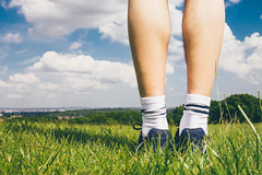 From Where I Am (AlistairBeavis) Tags: trees shadow grass clouds landscape stand legs bright sunny running sneakers trainers 52weeks alistairbeavis alistairbeaviscom