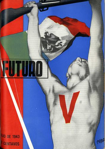 Portada de Josep Renau Berenguer para la Revista Futuro (julio de 1943)