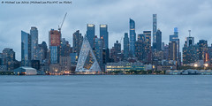 VIA 57WEST and the West Side (DSC04928) (Michael.Lee.Pics.NYC) Tags: longexposure newyork architecture night newjersey twilight construction nikon cityscape pyramid manhattan sony hudsonriver westside weehawken midtownmanhattan portimperial bjarkeingelsgroup nikkor85mm18af one57 432parkavenue a7rm2 via57west