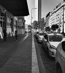 """Milan Central Railway Station Exit East"" (giannipaoloziliani) Tags: street city morning trees light sky people urban blackandwhite italy cars monochrome station architecture buildings landscape europe downtown view skyscrapers traffic modernart live milano taxi citylife streetphotography railway streetlife sidewalk trainstation vista metropolis streetphoto urbano antico lombardia architettura moderno palaces biancoenero oldart palazzi urbanlife mailand urbanstreet stazionecentrale grattacieli monocromatico metropoli citylive focalpoints pirellitower milancentralstation diamondtower milancity exiteast giannipaoloziliani uscitaest"