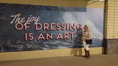 Out to dinner with Rene this mural caught our attention (krislagreen) Tags: white hoodie cd femme tan tgirl transgender purse blond transvestite crossdress tg patent ridingboots skinnyjeans feminized femininzation