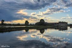 Risaia lomellina (alfvet) Tags: clouds nuvole natura campagna acqua vigevano lomellina risaia parcodelticino veterinarifotografi