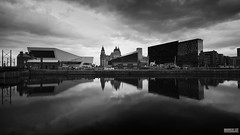 Mann Island (Mark Holt Photography - 4 Million Views (Thanks)) Tags: water clouds liverpool docks wow reflections moody pierhead theliverbuilding canningdock mannisland the3graces museumofliverpool