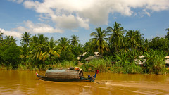 (Kelly Rene) Tags: color tree green nature rural boat cambodia southeastasia outdoor palmtrees tropical kh lush battambang indochina sangkerriver battambangprovince
