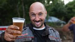 Happiness (Riccardo Malorni - The Light Hunter) Tags: people italy man beer sport tongue beard happy eyes funny cross gente happiness dirty occhi uomo lingua mus motocross felice birra barba sporco fango linguaccia stikingout