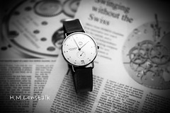 MONO9888 (H.M.Lentalk) Tags: leica macro monochrome germany blackwhite time metro watch swing m timepiece german r adapter 28 60mm f28 60 zeit 240 nomos typ 246 elmarit glashtte uhren 12860 elmaritr glashutte macroelmaritr