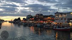 im Hafen - in the harbour (victorlaszlo73) Tags: sunset clouds warnemnde sonnenuntergang harbour ships wolken hafen rostock schiffe