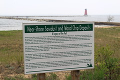 008 sign of the past (jgagnon63@yahoo.com) Tags: lighthouse up sign michigan shoreline lakemichigan upperpeninsula uppermichigan redlighthouse manistique schoolcraftcounty manistiquelighthouse canonsl1 manistiqueeastbreakwaterlightstation