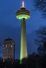 Skylon Tower (Gary Burke.) Tags: ca city longexposure travel vacation ontario canada building tower tourism skyline architecture night canon eos lights niagarafalls cityscape fb north citylife canadian niagara wanderlust citylights traveling dslr touristattraction cliftonhill observationtower skylontower cityliving 70d garyburke klingon65 canoneos70d