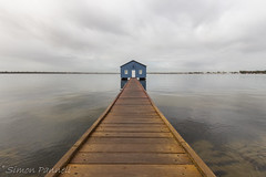 Crawley Boatshed-5.jpg (simon_pannell) Tags: landscape swanriver outdoor jetty boatshed crawley pier westernaustralia wa australia perth blueboatshed canon700d