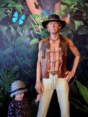 Crocodile Dundee! (pedro smithson) Tags: cinema mannequin museum nikon child harbour dundee sydney australia nsw crocodile movies outback wax dummy darling madametussauds oceania oceanica paulhogan d5100 pedrosmithson