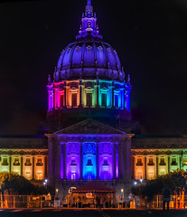 in solidarity with orlando (pbo31) Tags: sanfrancisco california city gay panorama black color colors june night dark lights spring orlando rainbow nikon cityhall unity large pride panoramic illuminated solidarity lgbt dome bayarea shooting tribute stitched civiccenter 2016 boury pbo31 d810