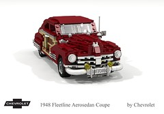 Chevrolet 1948 Fleetline Aerosedan Coupe (lego911) Tags: chevrolet chevy chev 1948 1940s classic fleetline aerosedan coupe auto car moc model miniland lego lego911 ldd render cad povray usa america woody chrome lugnuts challenge 103 thefabulousforties fabulous forties foitsop