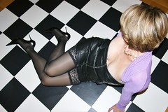 Chess (feldhaze) Tags: stockings leather highheels