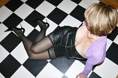 Chess (feldhaze) Tags: stockings leather highheels