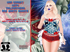 USA CORSET BOOTY SHORTS MEDIA (--- FEARSUM ---) Tags: independence day usa 4th july america open shirt flag eagle tshirt tmp slink adam miltiary collared corset hourglass physique eve tonic curvy fine slim belleza maitreya