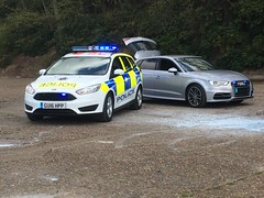 Surrey Police Cars (slinkierbus268) Tags: ford focus police surrey policecar audi brooklands bluelights marked unmarked