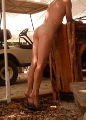 Camp (ericgieseking1) Tags: naked nude barebutt bare barefoot bareass nakedouside