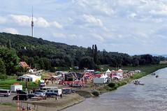 Partyzone - Elbhangfest, Dresden (Andr-DD) Tags: water clouds river germany deutschland dresden wasser saxony wolken sachsen fernsehturm elbe televisiontower himme elbhangfest flus