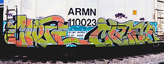 CLOZE - CLOZE (Electric Funeral) Tags: railroad art digital train photography graffiti midwest nebraska paint railway iowa fremont kansascity railcar missouri lincoln kansas traincar omaha graff aerosol freight reefer nme desmoines cloze freighttrain rollingstock councilbluffs armn flv benched benching upsk freighttraingraffiti fr8train fr8heaven