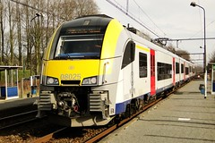 NMBS Desiro-trainset N 08025 arriving at the station of Bellem. (Franky De Witte - Ferroequinologist) Tags: de eisenbahn railway estrada chemin fer spoorwegen ferrocarril ferro ferrovia