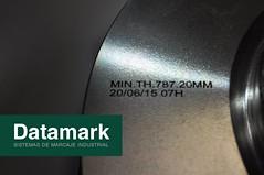 Pieza de acero marcada con láser (Datamark) Tags: laser pieza marcada rofin macsa lasermate