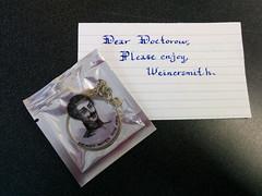 Gentleman's single use unlubcricated monocle and note from Zack Weinersmith, London, UK (gruntzooki) Tags: uk london sex funny calligraphy monocle steampunk optics smbc kickstarter