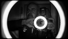 Ring illumination. (CWhatPhotos) Tags: pictures camera light shadow white black macro reflection me monochrome self canon that photography eos mono mirror foto image artistic pics iii picture pic images ring have photographs photograph fotos 5d which mk contain portrat selfie selfies portraited selfees selfee cwhatphotos
